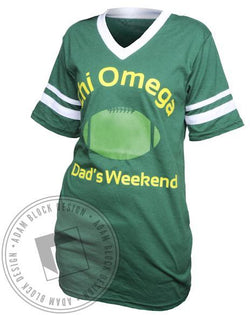 Chi Omega Dad's Weekend V-Neck-Adam Block Design