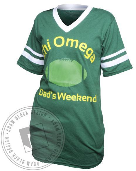 Chi Omega Dad's Weekend V-Neck-gallery-Adam Block Design