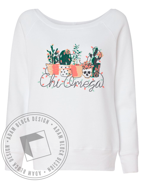 Chi Omega Desert Holiday Sweatshirt-gallery-Adam Block Design