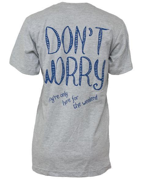 Chi Omega Don't Worry Tee-Adam Block Design