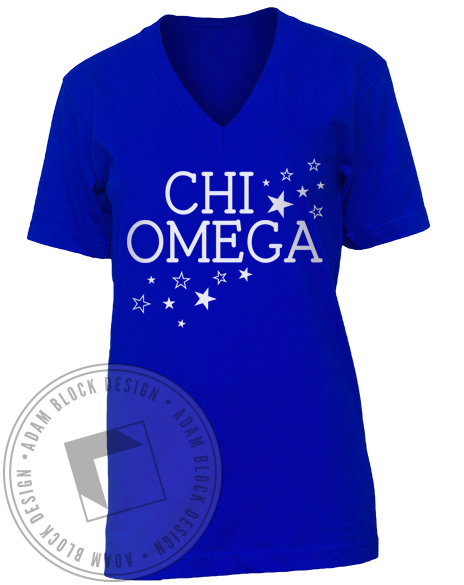 Chi Omega Dream Make-A-Wish V-Neck-gallery-Adam Block Design