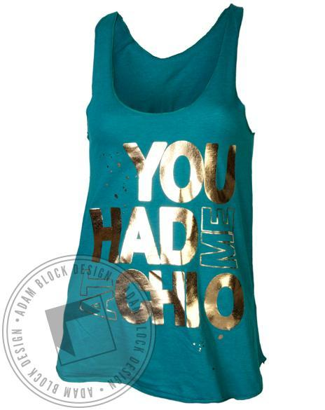 Chi Omega Foil Bid Day Tank-gallery-Adam Block Design