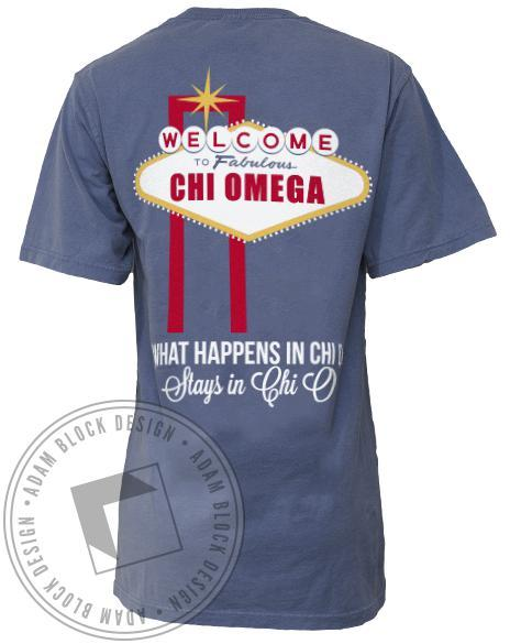 Chi Omega Get Lucky T-shirt-Adam Block Design