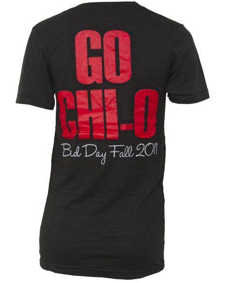 Chi Omega Go Phi Beta V-neck-Adam Block Design