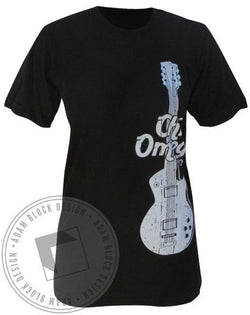Chi Omega Guitar Tee-Adam Block Design