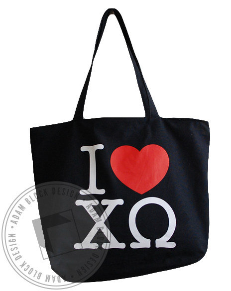 Chi Omega Heart Tote-gallery-Adam Block Design