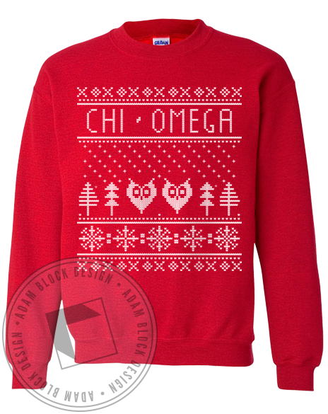 Chi Omega Holiday Sweatshirt-gallery-Adam Block Design