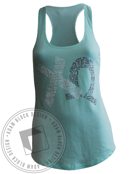 Chi Omega Home Sweet Home Tank-gallery-Adam Block Design