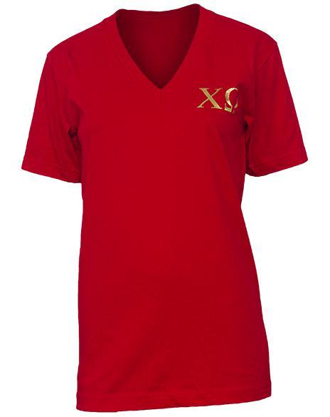Chi Omega Home Sweet Home Vneck-Adam Block Design