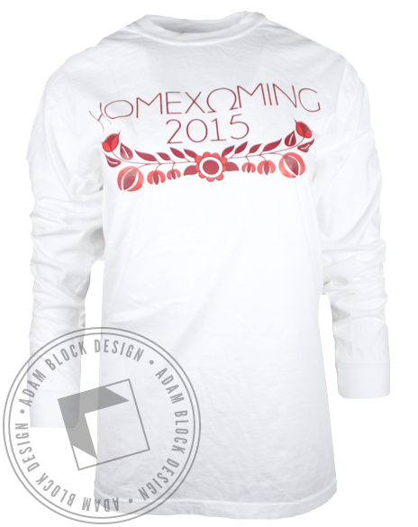 Chi Omega Homecoming Floral Longsleeve Shirt-Adam Block Design