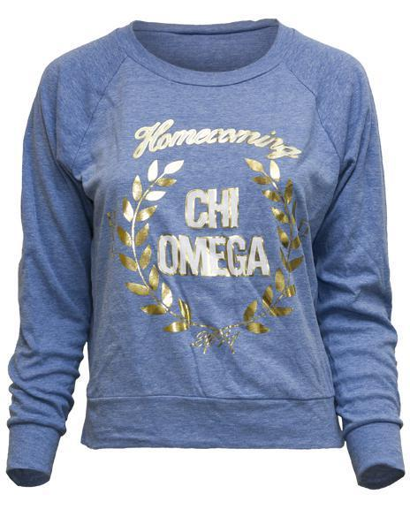 Chi Omega Homecoming Raglan-Adam Block Design