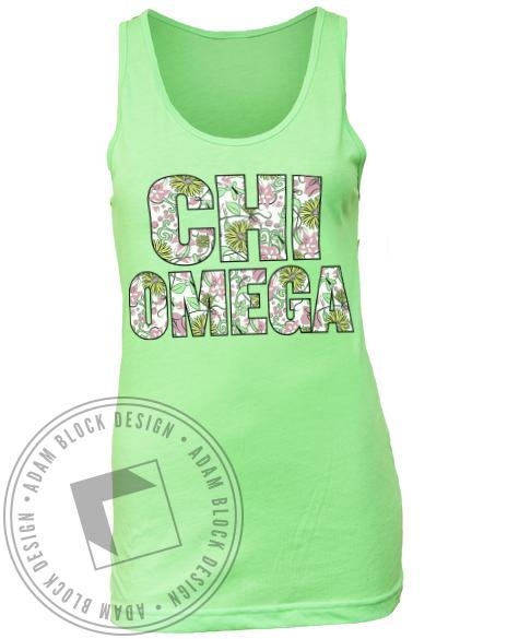 Chi Omega Life's A Breeze Tank-Adam Block Design
