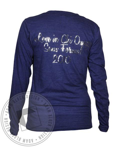 Chi Omega Live In Longsleeve-Adam Block Design