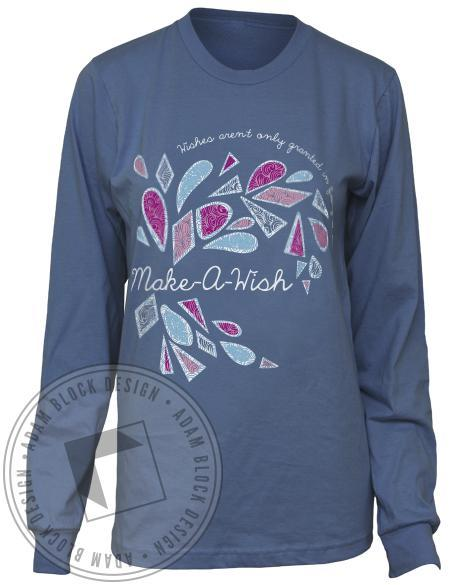 Chi Omega Make-A-Wish Long Sleeve Tee-gallery-Adam Block Design