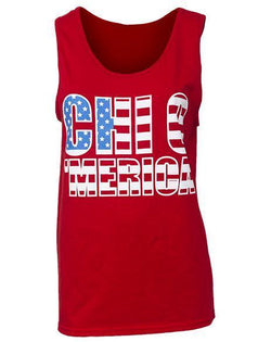 Chi Omega 'Merica Tank - Red-Adam Block Design