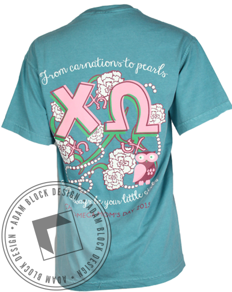 Chi Omega Mom's Day Pocket Tee-gallery-Adam Block Design