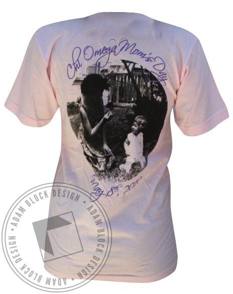 Chi Omega Mom's Day V-Neck-Adam Block Design