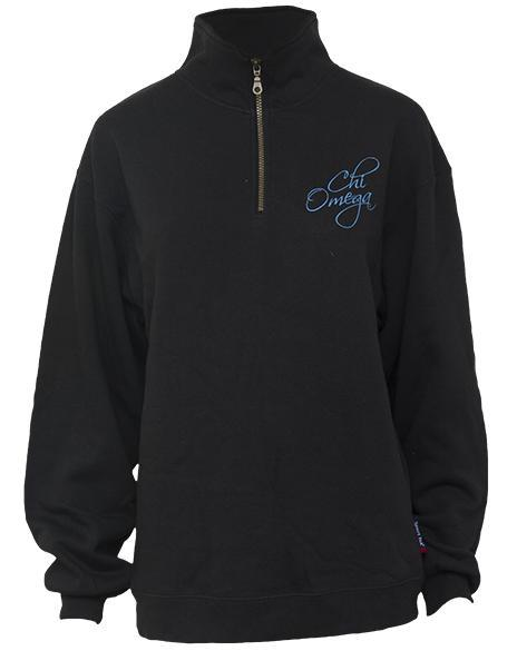 Chi Omega Mom's Weekend Half-Zip-Adam Block Design