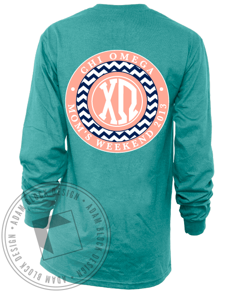 Chi Omega Mom's Weekend Long Sleeve-Adam Block Design