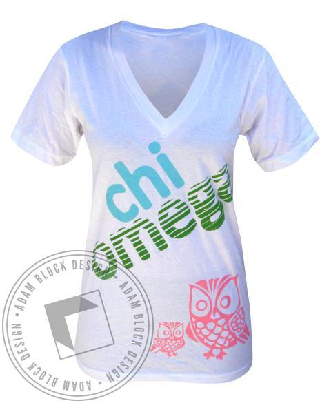 Chi Omega Mom's Weekend V-Neck-gallery-Adam Block Design