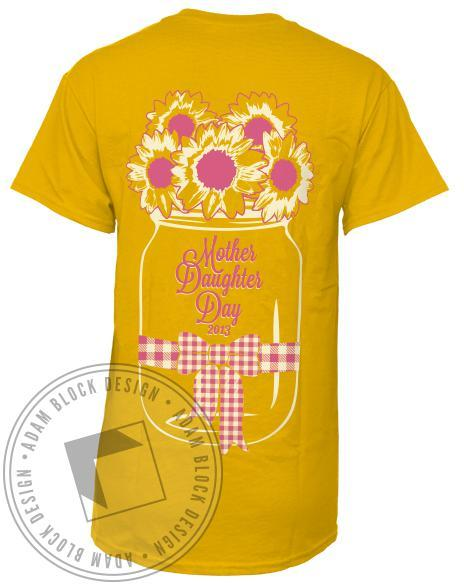 Chi Omega Mother Daughter Day T-shirt-Adam Block Design
