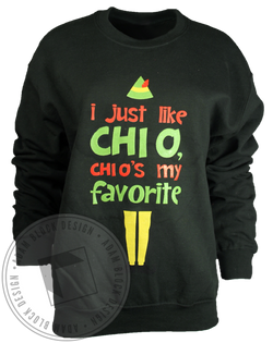 Chi Omega My Favorite Sweatshirt-Adam Block Design