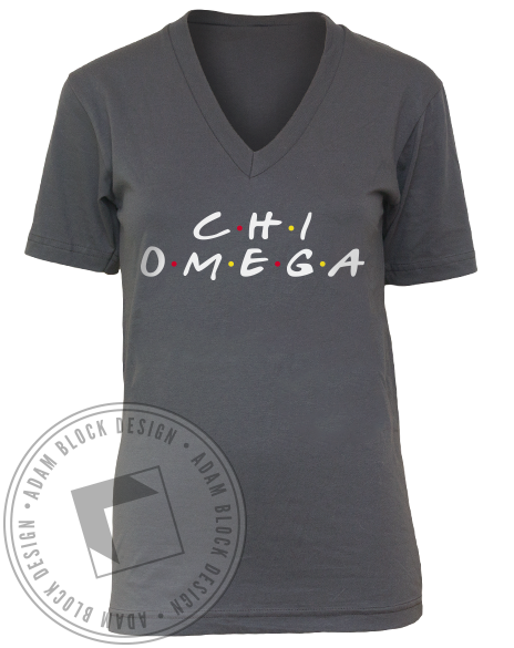 Chi Omega Name V-Neck-gallery-Adam Block Design