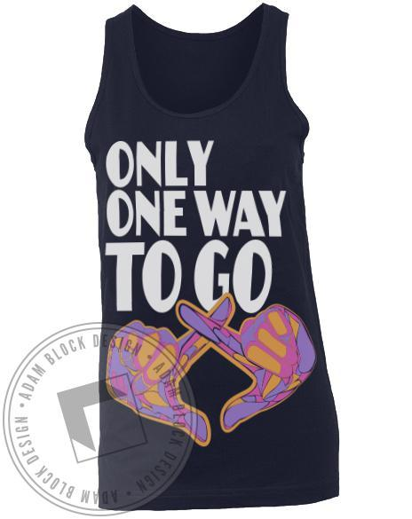 Chi Omega One Way To Go Tank-Adam Block Design