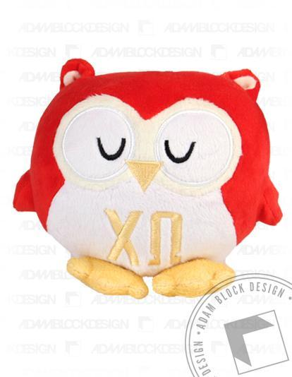 Chi Omega Owl Greekie-Adam Block Design