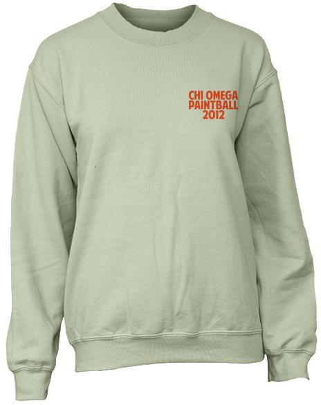 Chi Omega Paintball Sweatshirt-gallery-Adam Block Design