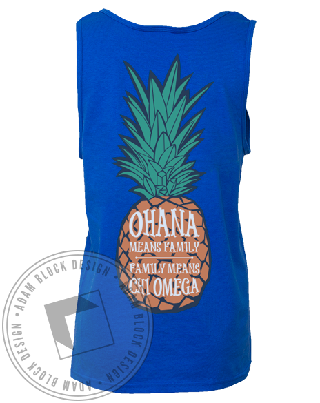 Chi Omega Pineapple Tank-Adam Block Design