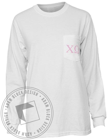 Chi Omega Queens Of The Row Long Sleeve-gallery-Adam Block Design