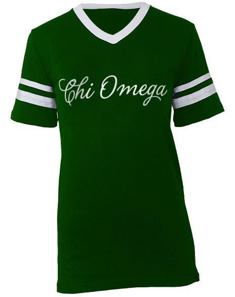 Chi Omega Recruitment Athletic Jersey-gallery-Adam Block Design
