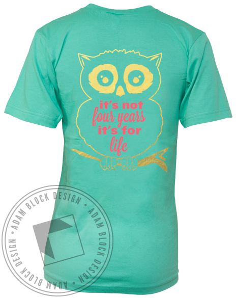 Chi Omega Recruitment Owl V-Neck-gallery-Adam Block Design