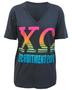 Chi Omega Recruitment V-Neck-gallery-Adam Block Design