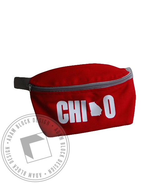 Chi Omega Red Fannypack-gallery-Adam Block Design