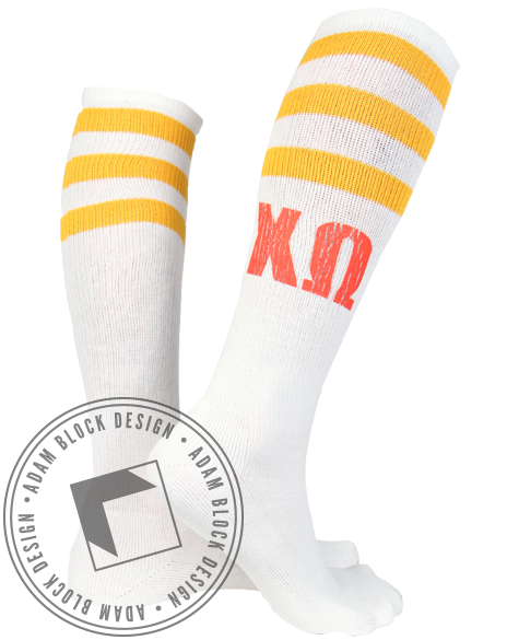 Chi Omega Socks-gallery-Adam Block Design