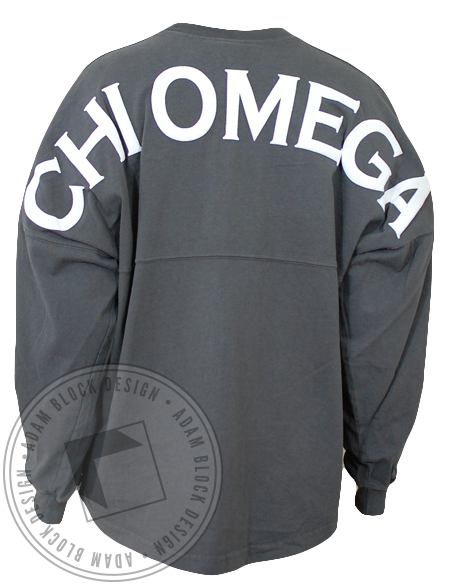 Chi Omega Spirit Jersey Shirt-Adam Block Design