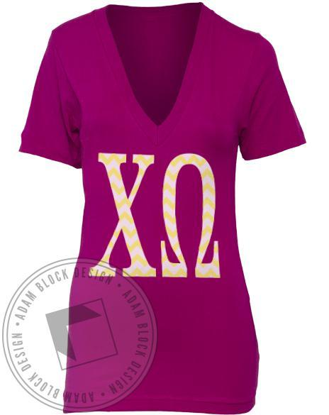 Chi Omega Spirit Week V-neck-gallery-Adam Block Design