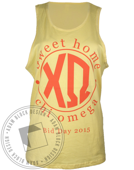 Chi Omega Sweet Home Tank Top-Adam Block Design