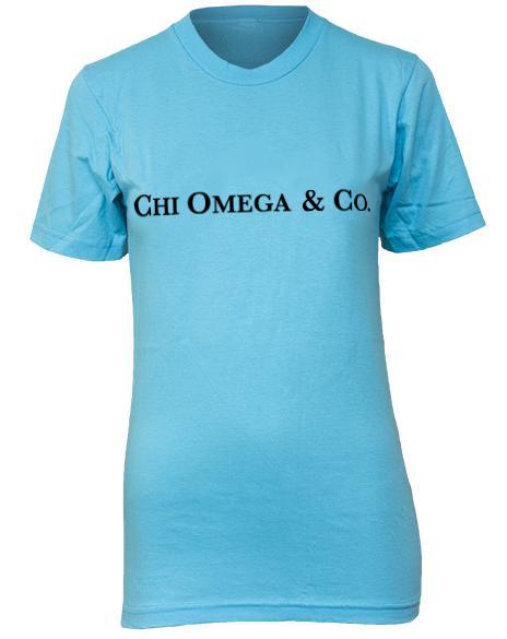 Chi Omega Tiffany's Tee-Adam Block Design