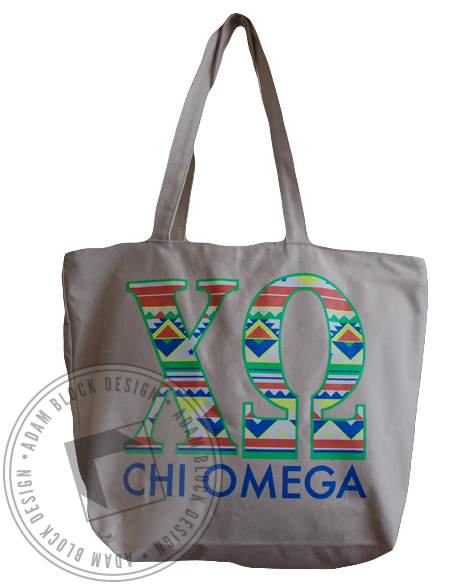 Chi Omega Tribal Tote-gallery-Adam Block Design