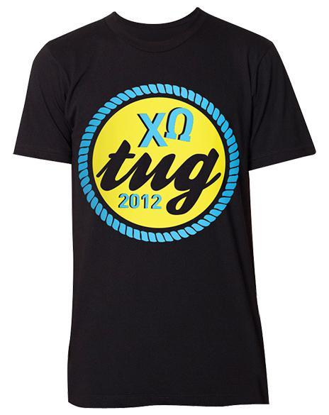 Chi Omega Tug For Wishes T-Shirt-gallery-Adam Block Design