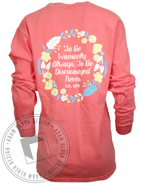 Chi Omega Womanly Always Longsleeve Shirt-Adam Block Design