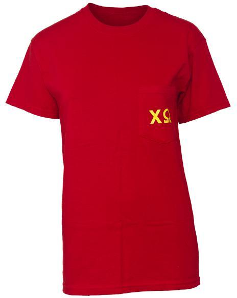 Chi Omega Womanly Always Pocket Tee-Adam Block Design