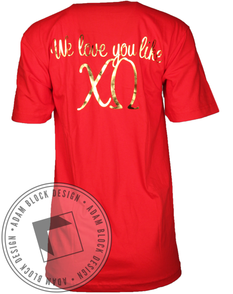 Chi Omega XO V-Neck-gallery-Adam Block Design