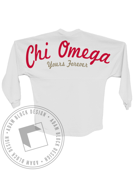Chi Omega yours Forever Spirit Jersey-Adam Block Design