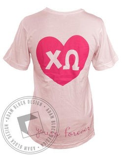 Chi Omega Yours Forever V-Neck-Adam Block Design