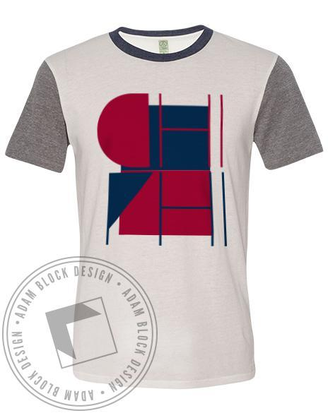 Chi Phi Colorblock Tee-Adam Block Design