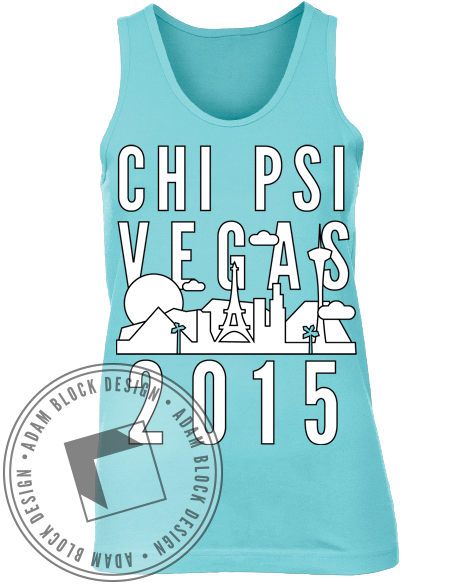 Chi Psi Casino Night Vegas Tank Top-Adam Block Design